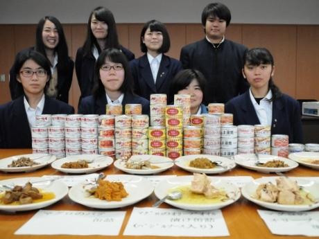 三重県立水産高校生徒、実習生が釣ったカツオや地魚で缶詰16種完成させる