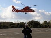 賢島で消防ヘリの離発着訓練 京都市消防航空隊と協力