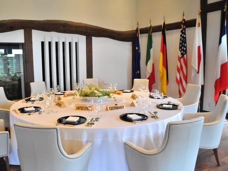 「伊勢志摩サミット」開催された志摩観光ホテル、3つある内の2つのサミットテーブルが志摩観光ホテルにある。