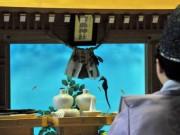 志摩マリンランドの賢島神社で例祭 総ヒノキ造りでできた社の中に水槽