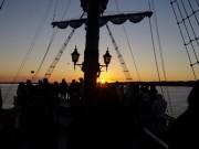 真珠いかだ浮かぶ英虞湾の海上から「初日の出」エスパーニャクルーズ