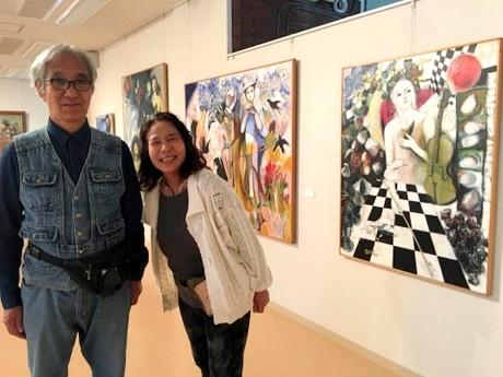 志摩市に移住した夫婦の絵画展「瀧泰子・瀧勇展」