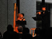 伊勢出身のハーピストでソプラノ歌手・速海ちひろさん三重県立美術館でコンサート