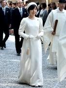 伊勢神宮の新祭主に黒田清子さん 真珠のアクセサリーまとい神様に奉告