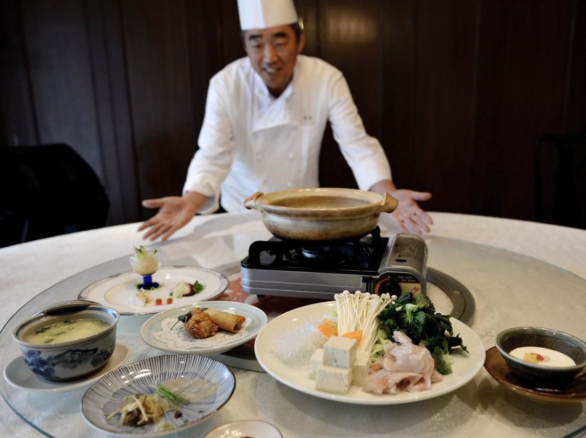 伊勢の中国料理店「陶陶」中華味のテッピにテッチリ、冬限定トラフグコース