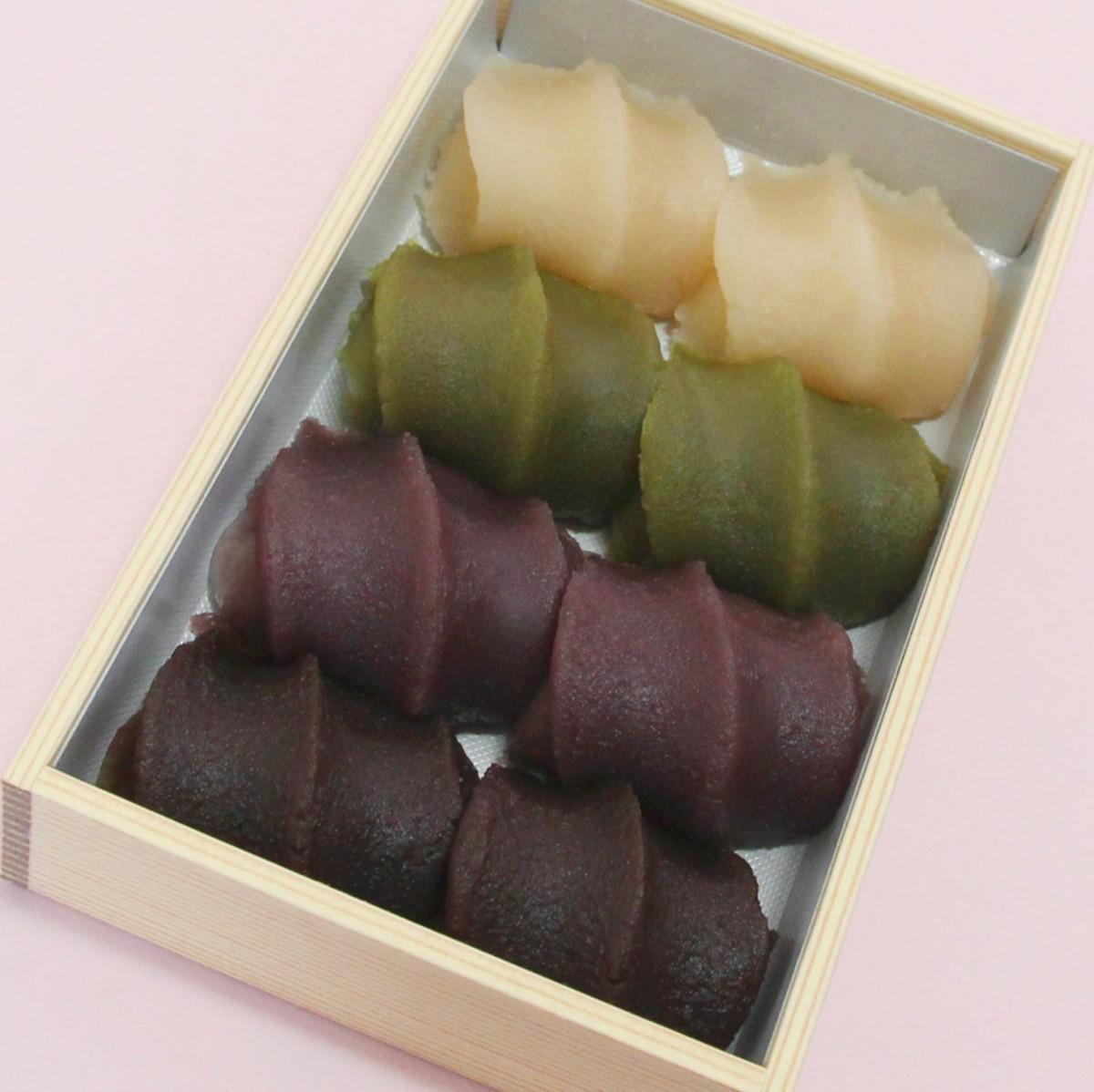 「4色の赤福餅」7月15日から販売へ 菓子博限定販売の「白い赤福」話題受け商品化(写真提供=赤福)