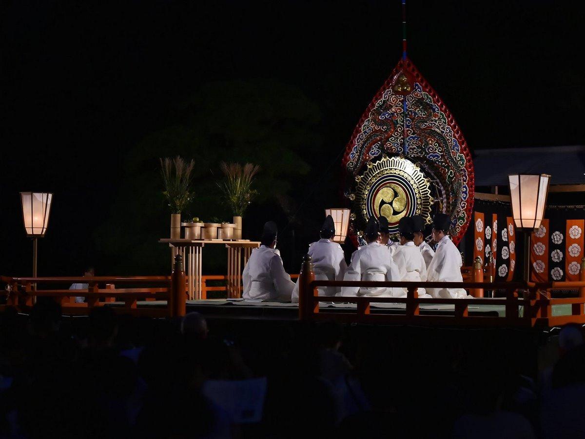 伊勢神宮内宮で「観月会」、雅な世界に 雲の合間から中秋の名月見え隠れ