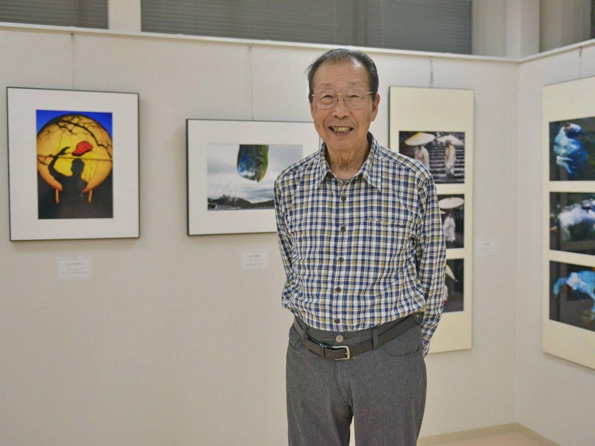 85歳・志摩の西井寛一さんが写真展 二科展入選11作品も