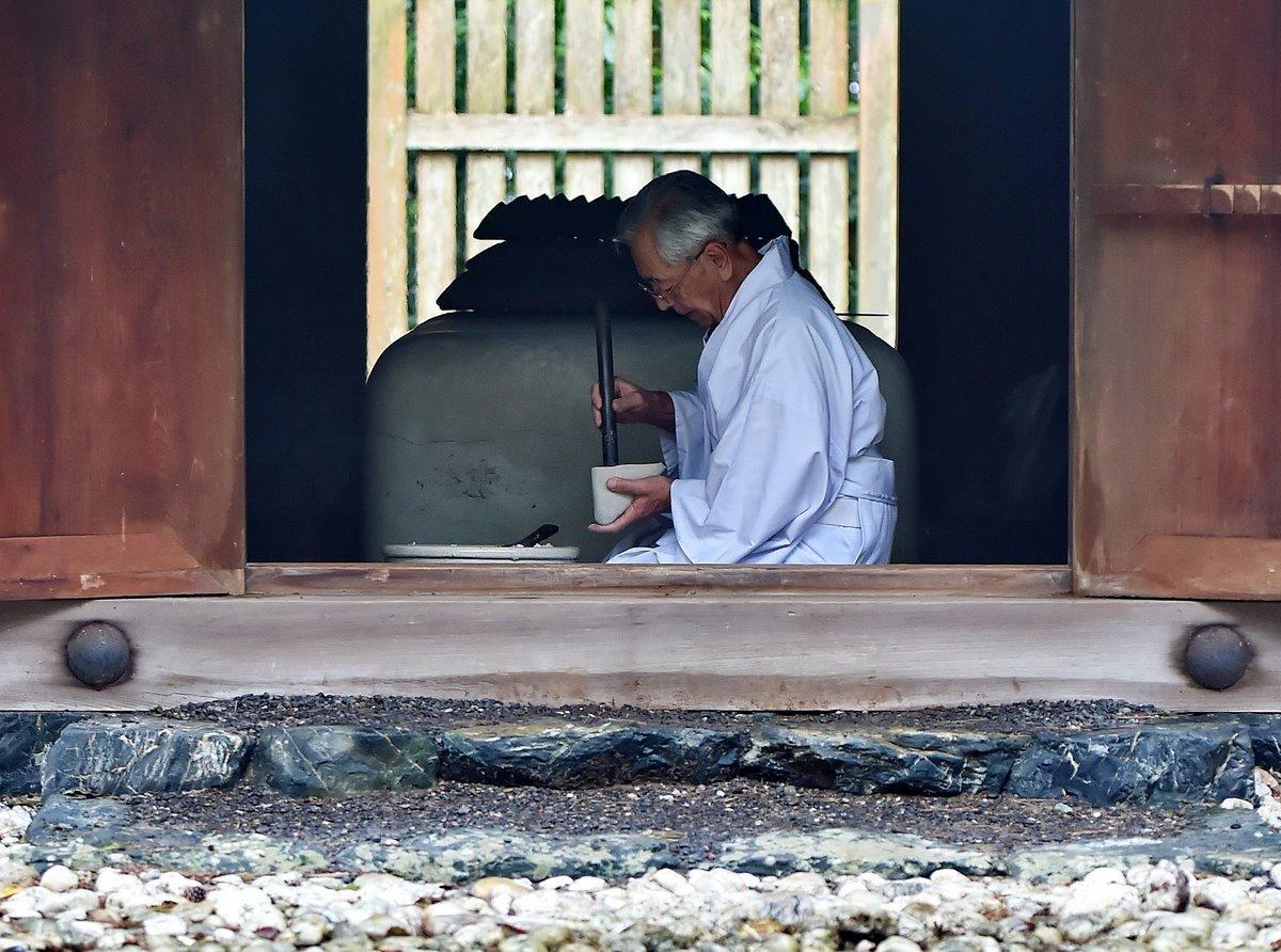 二見町の御塩殿神社 伊勢神宮で使う塩を焼き固める作業始まる