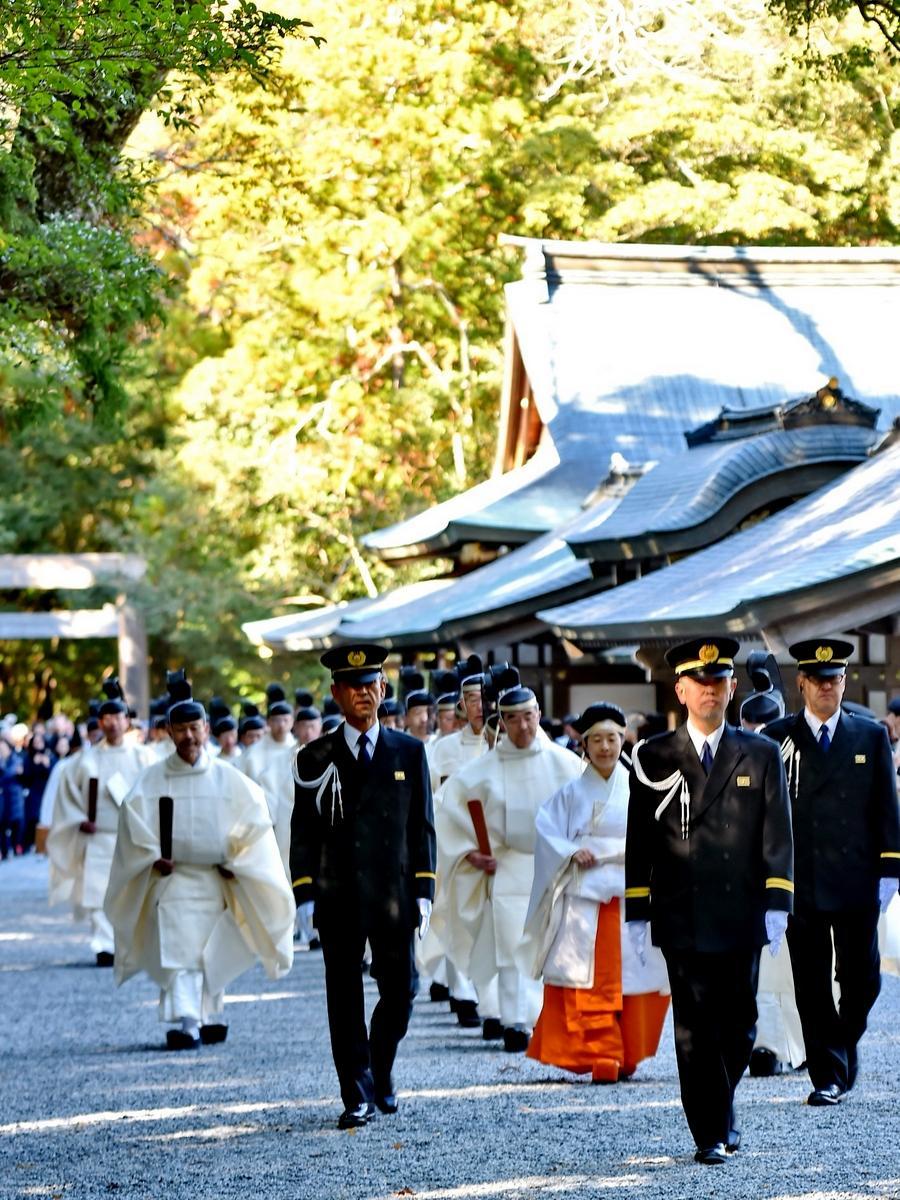 伊勢神宮で平成最後の新嘗祭 木々が色づき始めた神域の中で