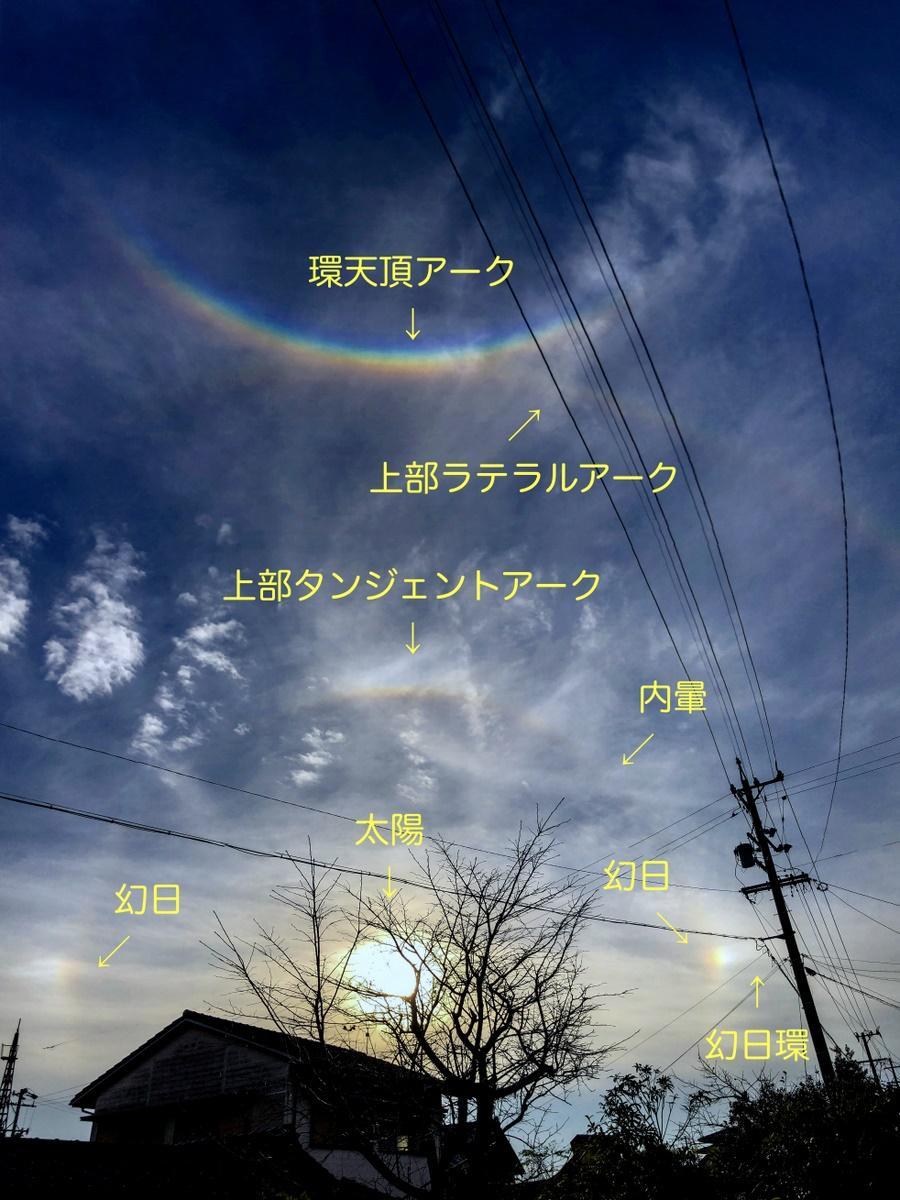 志摩で一度に6種類の大気光学現象 天空にさまざまな「虹」(撮影=宮本秀明)