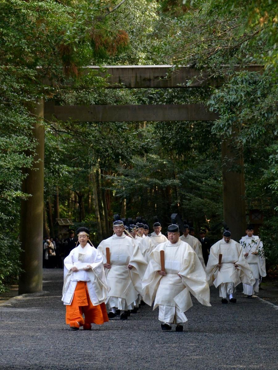 伊勢神宮で平成最後の「月次祭」 黒田清子神宮祭主奉仕、新年の準備も着々