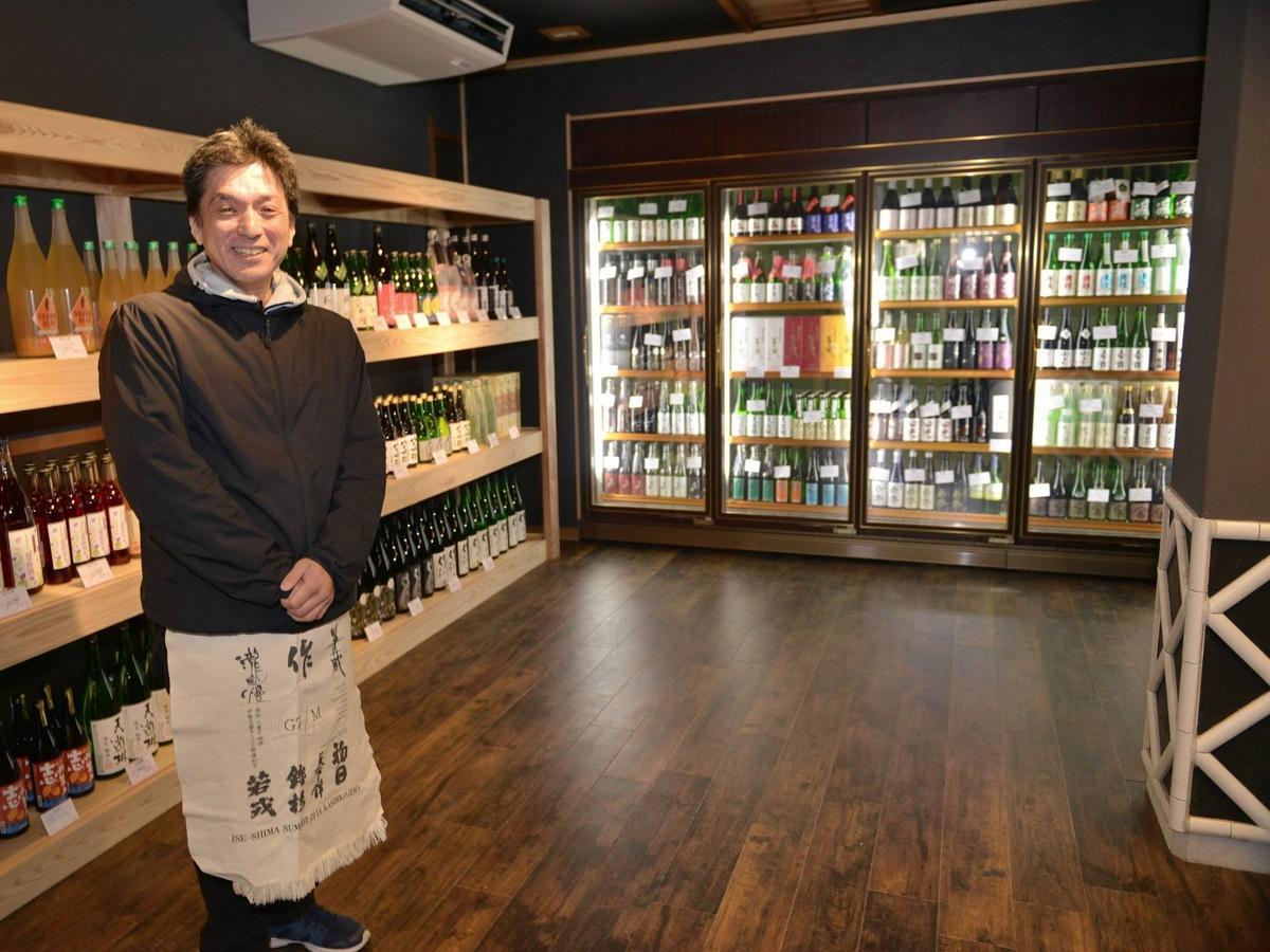 「三重の地酒」を専門に扱う酒販店、志摩市阿児町に 試飲バーも併設