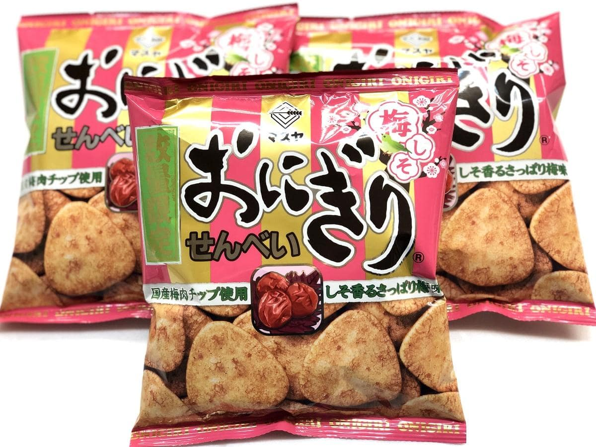 伊勢のマスヤ「おにぎりせんべい」 昨年好評の「梅しそ味」今年も限定販売