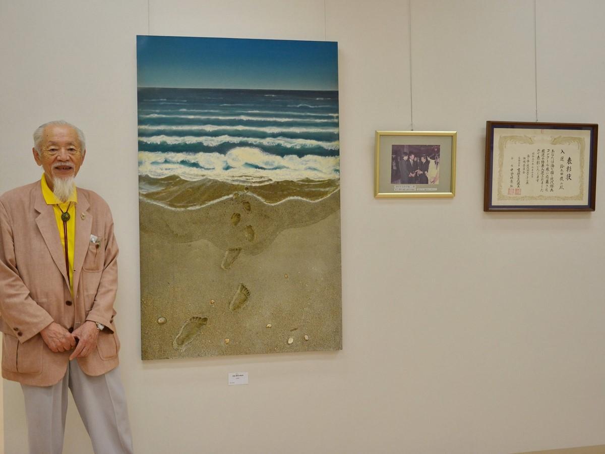志摩・波切を描き続けて65年 大王美術ギャラリーで鈴木田俊二さんの絵画展
