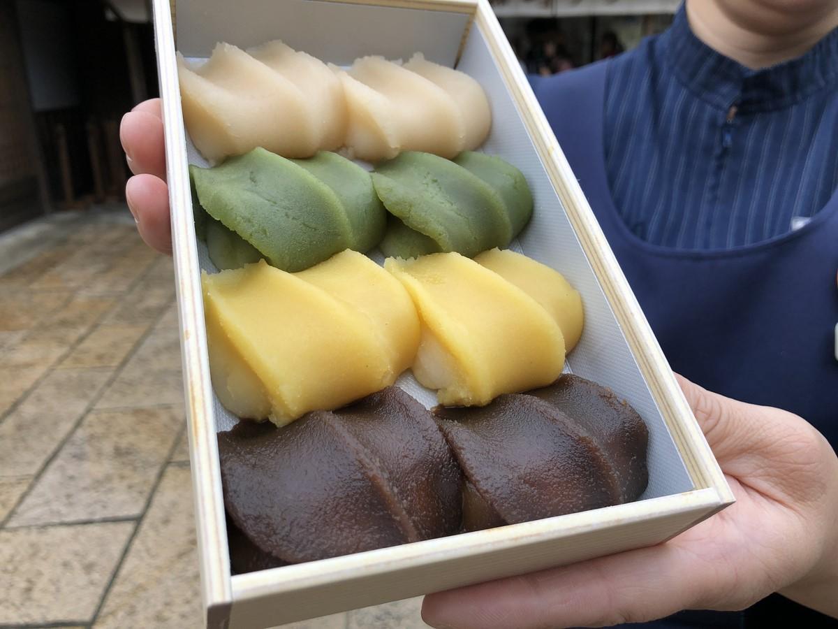 「4色赤福」に「黄色」のトウモロコシ味の赤福登場 「いすず野あそび餅」1日限定500箱