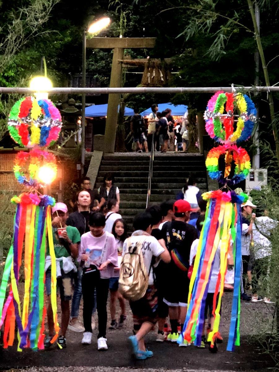 志摩市の宇賀多神社で「七夕まつり」 子どもたちに夏祭りの楽しさを伝えて