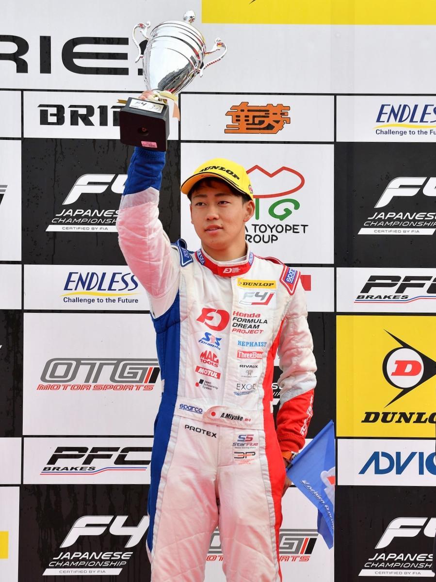 伊勢の三宅淳詞選手、FIA-F4もてぎ最終戦3位 初参戦で年間ランキング2位に (撮影=秋山昌輝)