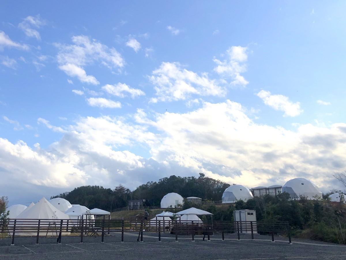 「グランドーム伊勢賢島」ドームテント型グランピング施設、冬メニュー強化