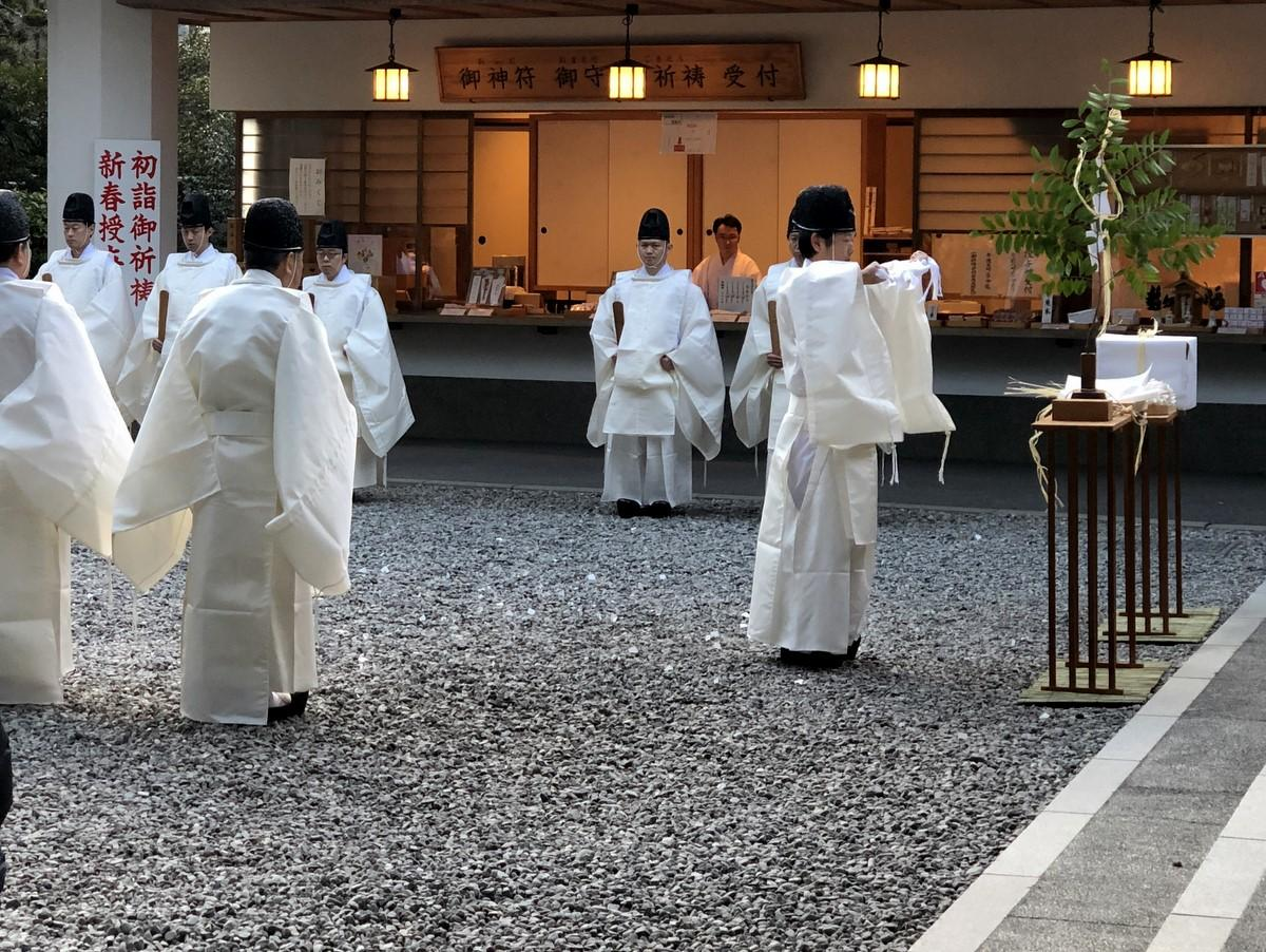 伊勢の猿田彦神社で「大晦日大祓式」 一年の罪けがれをはらい新年を清らかに