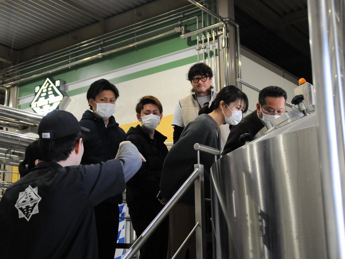 伊勢のクラフトビール「伊勢角屋麦酒」の工場見学ツアー開始