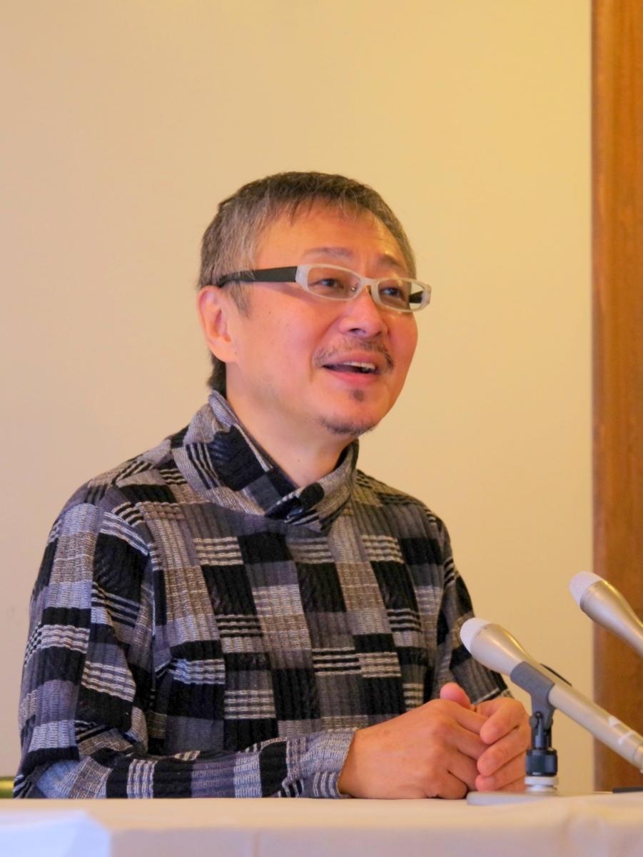 プロのクリエーターが伊勢市に滞在し創作活動 松尾貴史さんは「折り顔」で表現(撮影=岩咲滋雨)