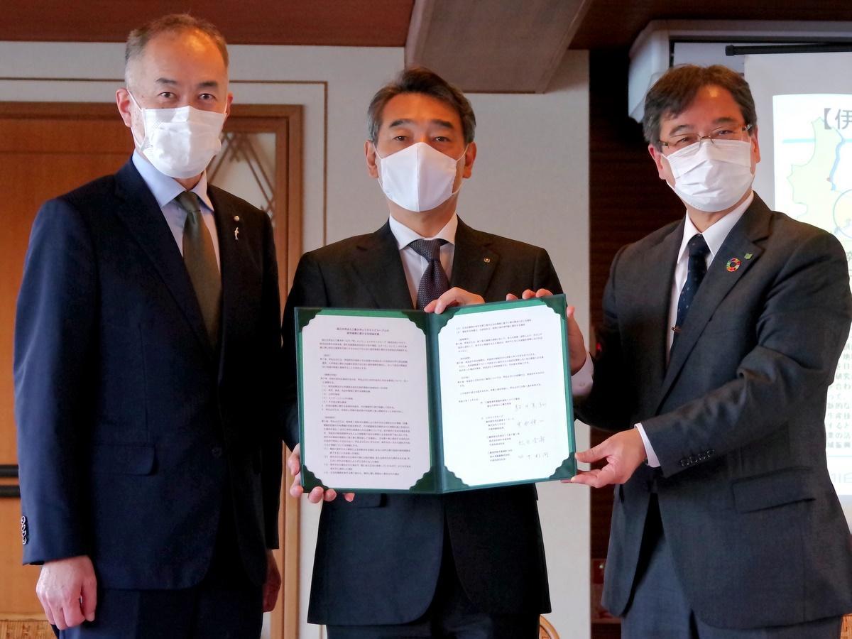ミキモトグループ3社と三重大学が産学連携で協定締結(撮影=岩咲滋雨)