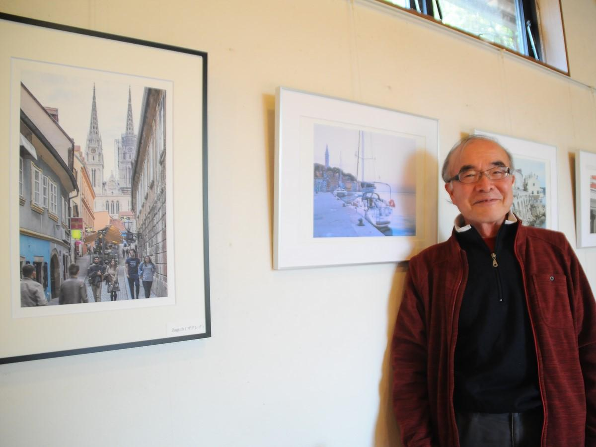 玉城町在住のカメラマン・林隆久さんが写真展 クロアチアの町並み伊勢和紙に