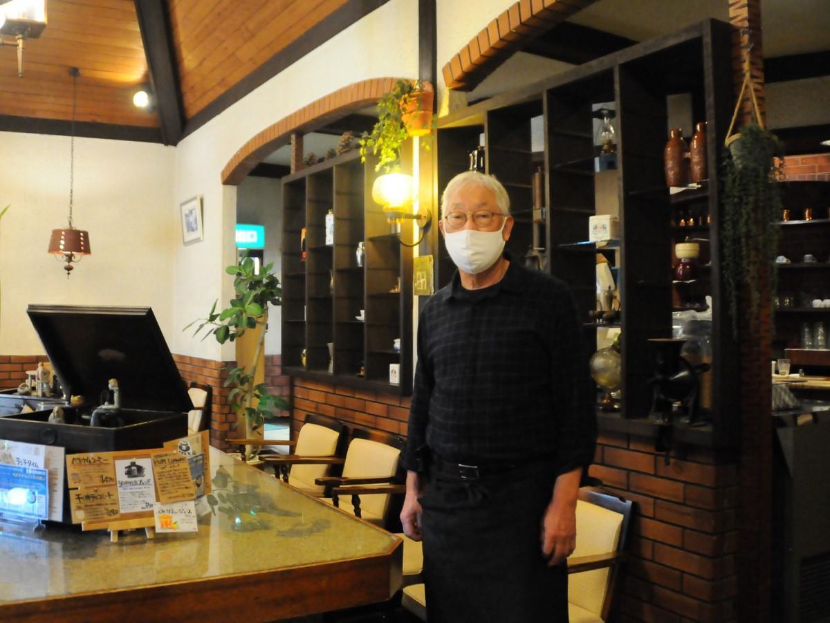 南伊勢町・五ヶ所の喫茶店「珈琲塔 FIVE」が50周年 65年前の銭湯、今も店舗に