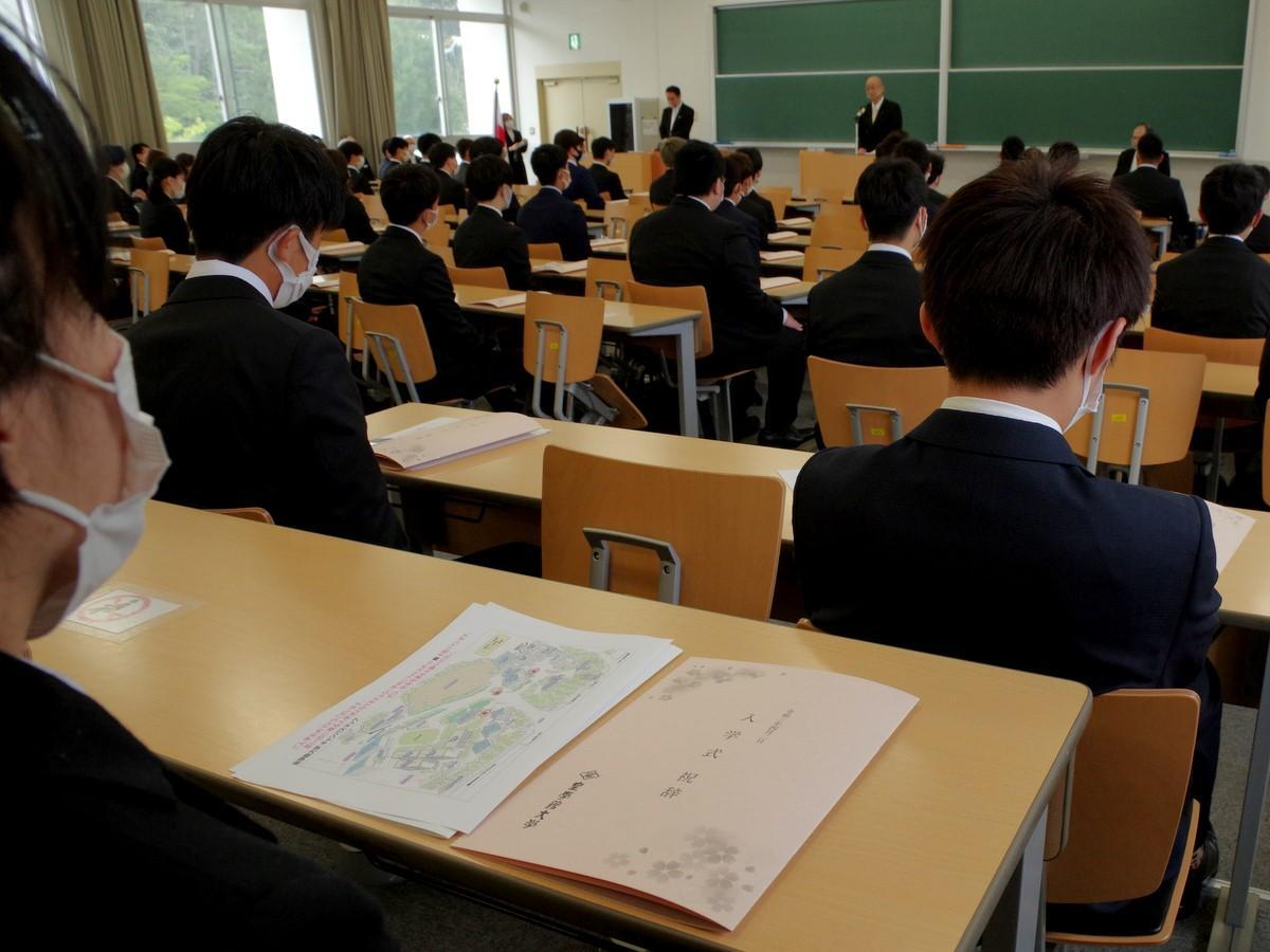 皇学館大学で入学式 新型コロナ予防で式典、伊勢神宮参拝は中止に