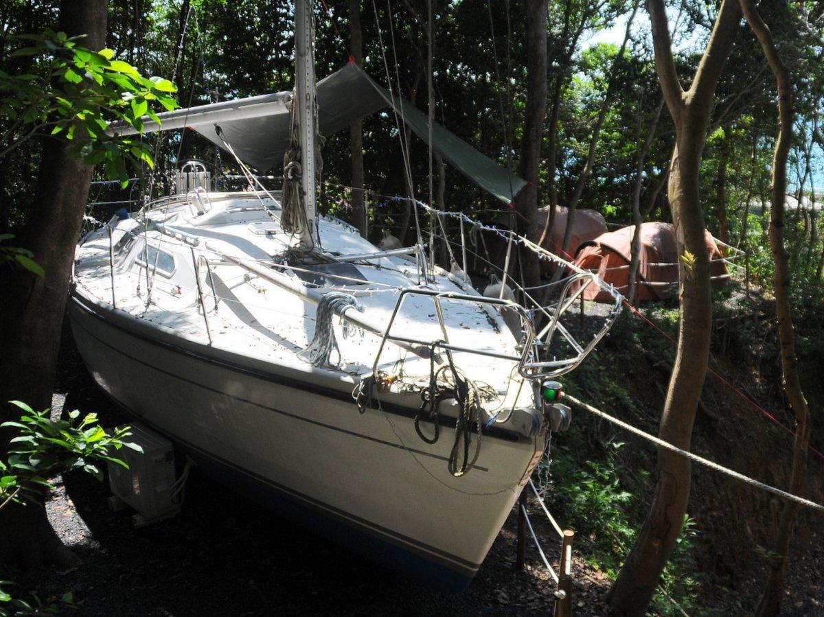 南伊勢町・田曽白浜の森の中にヨット 珍しいヨット型グランピングサイト