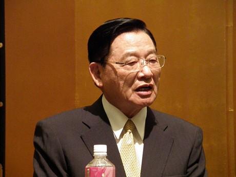 台湾の海峡交流基金会董事長、江丙坤氏が石垣で講演