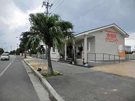 新社屋は国道39号パイパス沿い、真栄里公園向かいに一戸建て風の建物
