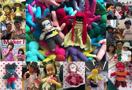 世界各地で好評の人形作りワークショップなど(画像提供=FabGarage石垣)