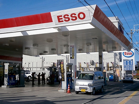 ガソリンスタンドに併設されている店舗