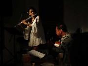 フルート奏者の幸枝さんとギター奏者の平倉信行さん、石垣島でCD発売ライブ
