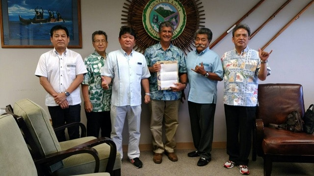 ハワイ州カウアイ郡を訪問した「KNT八重山会カウアイ視察訪問交流団」
