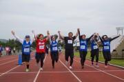 石垣で始まった「ゆいま~るリレーマラソン&ウォーク」、東京夢の島で