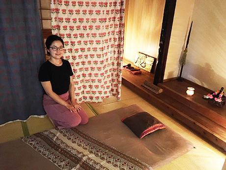 タイ古式マッサージサロン「ゆっくり」店内の様子