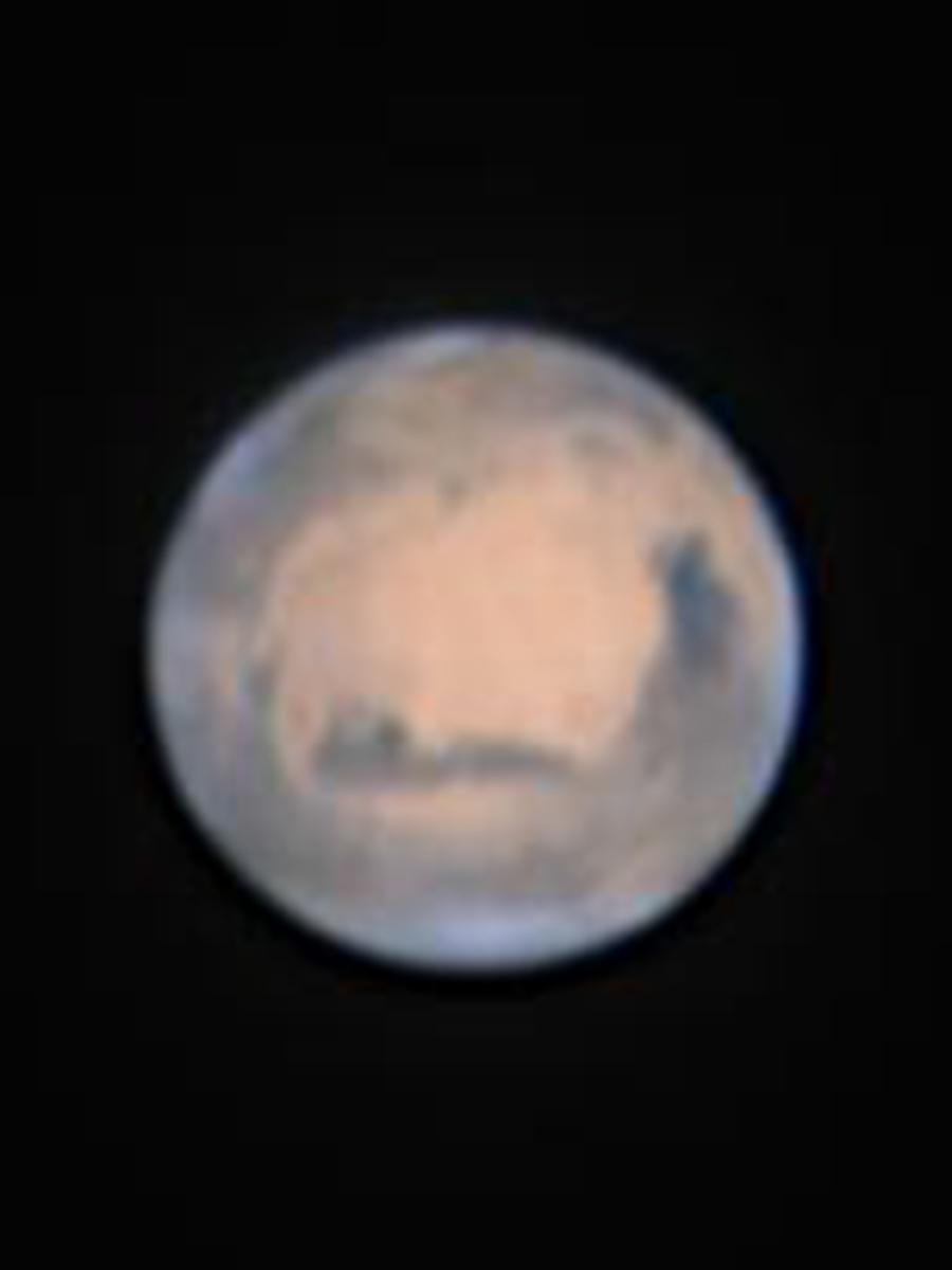 むりかぶし望遠鏡で撮影した火星