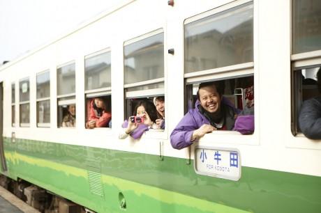 JR石巻線、一部区間再開-渡波駅再開祝い手作りセレモニー開催