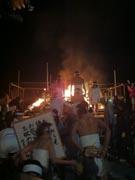 石巻各地で正月の終わり告げる「どんと祭」-しめ縄などたき上げ
