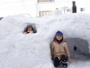 石巻で91年ぶりの大雪-積雪38センチ、市内で混乱も