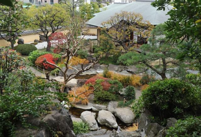 日本庭園の秋景色が楽しめる水車公園