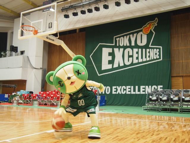 2月18日に小豆沢体育館でのホームゲームで初披露された東京エクセレンスのtex(てっくす)
