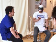 上板橋の接骨院でいたばしプロレス「はやて」選手のトークイベント 公開施術も