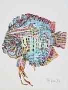 板橋区役所でアール・ブリュット展 板橋区在住の作家3人の作品を含む57点を展示
