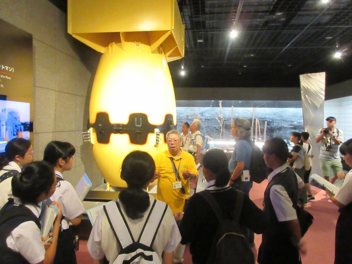 中学生長崎平和の旅で訪れた長崎原爆資料館