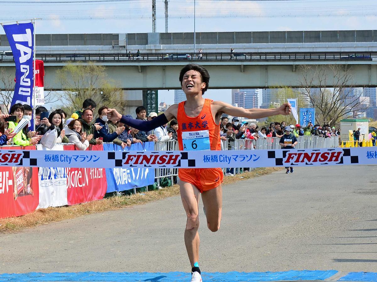「日本陸連登録の部」男子1位の古川大晃さん
