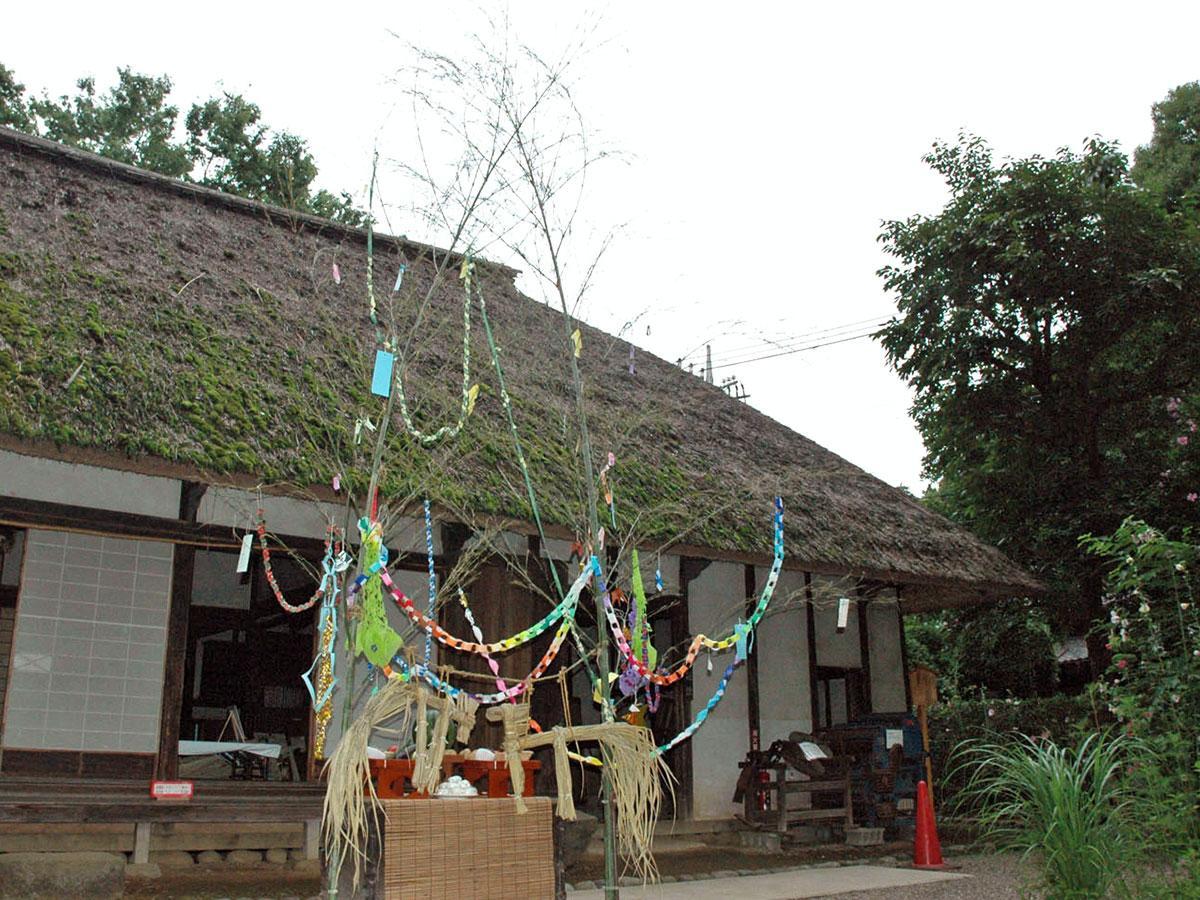 板橋区立郷土資料館で屋外展示されている古民家・旧田中家住宅